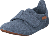 Bisgaard - Home Shoe Wool Velcro Grey