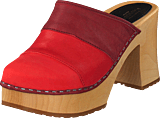 Swedish Hasbeens - Color Combo Slip In Red Nubuck Color Combo
