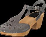 Swedish Hasbeens - Lacy Sandal Dark Grey Nubuck