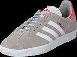 adidas Originals - Gazelle Grey Two/White/Trace Scarlet