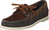 Sebago - Spinnaker Brown/navy/grey Lea