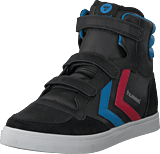 Hummel - Stadil Jr Leather High Black/Brilliant Blue