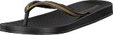 Ipanema - Anatomica Metallic Fem Black/black/gold