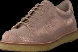Angulus - Sneaker With Plateau Sole Copper Glitter