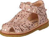 Angulus - Fisherman Sandal W. Velcro Rose W. Copper Dot