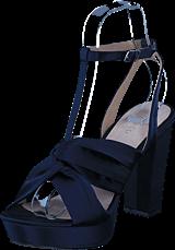 Bianco - Satin Strap Sandal Navy Blue