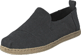 Toms - Deconstructed Alpargata Rope Black Washed Canvas/rope