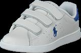 Ralph Lauren Junior - Quilton Ez T White Leather W Royal Pp