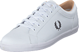 Fred Perry - Baseline Leather White/black