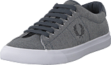 Fred Perry - Underspin Pique Graphite Blue