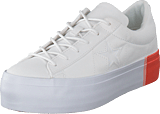 Converse - One Star Platform White/bright Poppy/white