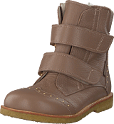 Angulus - Tex-boot W. Velcro Straps Dusty Rose Brown